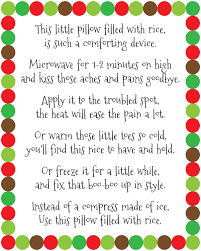 Warm Tiles Easy Heat Instructions by Diy Rice Bag Warmers Poem Printable At Artsyfartsymama Com