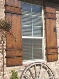 Naples Shutter Built Out Of Fiber Cement Material Shown In Provincial Color Outdoor ShuttersExterior MakeoverHouse