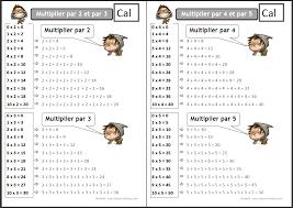 comment apprendre table de multiplication comment apprendre les tables de multiplication ce1 idées pour la