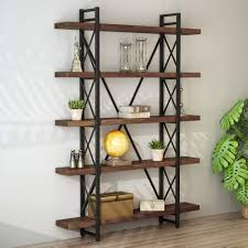 100 Tree Branch Bookshelves LITTLE TREE Solid Wood 5 Shelf Industrial Style Bookcase And Book Shelves Metal And Wood Free Vintage Standing Storage Shelf Units