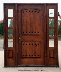 Rustic French Doors Door Designs Wood Entry Knotty Alder With Sidelights Clearance