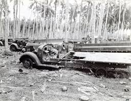 """Wrecked Japanese Truck, Guadacanal, Circa 1942 