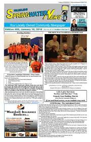 January 16 2014 Ed 408 For Web By Springwater News