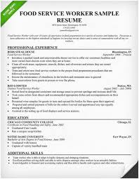 Rumse Formte H Pics Food Service Worker Resume Sample Use This Of