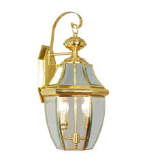 livex 2251 02 monterey 2 light 20 inch polished brass outdoor wall