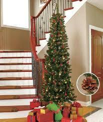 Skinny Christmas Trees 7 Slim Tree White Lights Feet Tall Prelit Lowes
