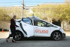 100 Taco Truck Challenge Truck Halts GM Autonomous Cars Cruise Through City Streets