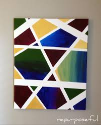 Easy Abstract Canvas Art Diy Repurposeful Boutique Photo 4 A