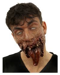 Halloween Half Mask Makeup by Dr Tung Zombie Half Mask Zombie Wound Latex Horror Shop Com