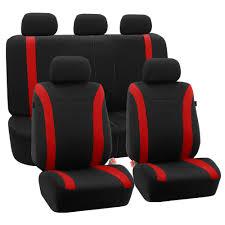 Oxgord Trim 4 Fit Floor Mats by Oxgord 21pc Black U0026 Red Flat Cloth Seat Cover And Carpet Floor Mat