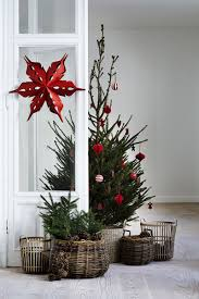 Small Christmas Trees In A Basket Base To Cover Tree Stand