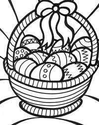 Printable Easter Egg Coloring Pages For Adults Basket Games Advanced