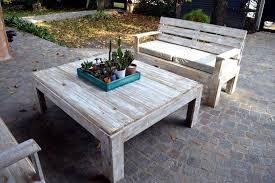Pallet Patio Furniture Plans by Wooden Pallet Furniture Set For Patio 99 Pallets