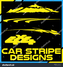 Tribal Cool Car Stripe Design Set Stock Vector (Royalty Free ...