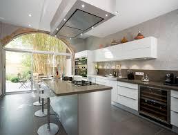 hotte de plafond novy cuisine ilôt cuisson évier m desanta perene lyon