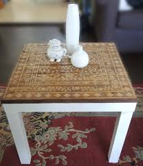 Lack Sofa Table Birch by Ikea Hack Stenciled Lack Side Table Want To Craft Pinterest