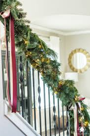 Hanging Garland On Staircase Christmas Glasses Christmas Decorating Ideas For Porch Railings Rainforest Islands Christmas Garlands With Lights For Stairs Happy Holidays Banister Garland Staircase Idea Via The Diy Village Decorations Beautiful Using Red And Decor You Adore Mantels Vignettesa Quick Way To Add 25 Unique Garland Stairs On Pinterest Holiday Baby Nursery Inspiring The Stockings Were Hung Part Staircase 10 Best Ideas Design My Cozy Home Tour Kelly Elko