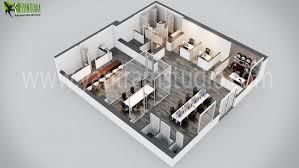 Modern fice 3D Floor Plan Design 3D Floor Plan Design CG