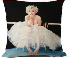 24 X 24 Patio Cushion Covers by The Walking Dead Cotton Linen Cushion Cover Marilyn Monroe Audrey
