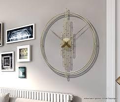 kreative eisen wohnzimmer wanduhr in gold