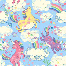 Cute Unicorns And Rainbows Wallpaper Images Pictures