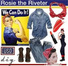 Rosie The Riveter Halloween Tutorial by Easy Halloween Costume Rosie The Riveter Halloween Costumes