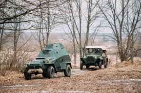 100 Scout Truck Russian Armored Soviet Car BA64 Of World War II And