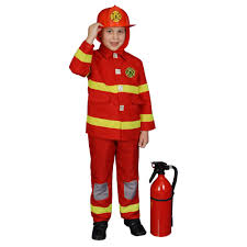 Amazon.com: Boy Fire Fighter Children's Costume In Red: Toys & Games