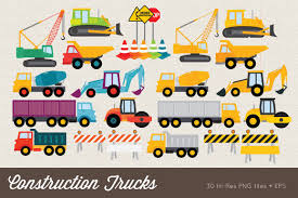 100 Construction Trucks Clip Art