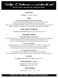 Objective Examples For Resumes Fashion Stylist Resume Retail