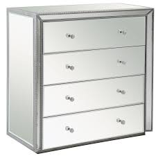 Black Dresser 4 Drawer by 4 Drawer Mirrored Dresser