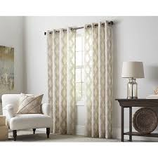 Light Filtering Privacy Curtains by Shop Allen Roth Breesport 84 In Oat Polyester Grommet Sheer