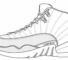 Color Jordan Shoes Coloring Pages For Property Cool And Print