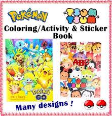 Pokemon Coloring Sticker Book Tsum Activity Little Pony Paw