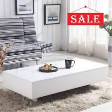 100 Living Room Table Modern GOLDFAN High Gloss White Rectangle Coffee Design Sofa Side End S For Home Office Furniture