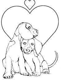Good Puppy And Kitty Coloring Pages 62 For Books With