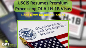 USCIS Resumes Premium Processing Of All H1B Visa Categories ... New H1b Sponsoring Desi Consultancies In The United States Recruiters Cant Ignore This Professionally Written Resume Uscis Rumes Premium Processing For All H1b Petions To Capsubject Rumes Certain Capexempt Usa Tv9 Us Premium Processing Of Visas Techgig 2017 Visa Requirements Fast In After 5month Halt Good News It Cos All H1