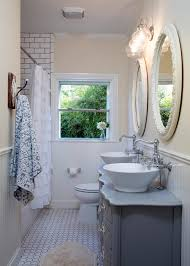 Chandelier Over Bathroom Vanity by Awesome Bathroom Vintage Styling Deco Combine Idyllic White