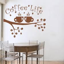 Coffee Wall Decals Cup Sticker Quotes Decal Vinyl Kitchen Decor Cafe Interior Design Bakery Restaurant Art