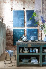 Full Size Of Kitchen Traditional Blue Rustic Wooden Floor Island