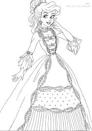 From Disney Coloring Pages Ariel Deluxe Gown Lineart By LadyAmber On DeviantArt