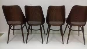 esszimmerstühle aus buche thonet 1960er 4er set