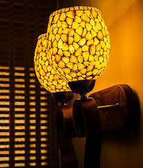 Wood Lamp Examination Diagnosis by Fos Lighting Wood Carved Mop Glass Double Wall Lamp Brown Buy