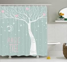 Tree Wall Decor Ebay by Tree Shower Curtain Stars Moon Pastel Colored Bathroom Decor Ebay