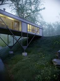 100 Max Pritchard Architect Bridge House Visualized House Design Hillside House House