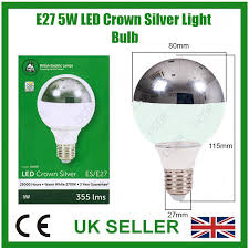 1x 5w led instant on crown silver top reflector g80 clear light