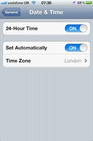 Technology  iPhone iPad Has Wrong Timezone When Date Time is Set