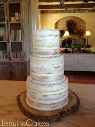 This Vanilla Cake Was Loosely Frosted Naked With Almond Butter Cream To Add The Rustic Charm Of Very Elegant And Romantic Wedding