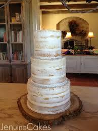 Nearly Naked Rustic Wedding Cake