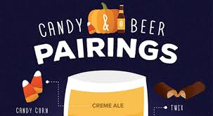 Halloween Candy Dish That Talks by Beer Pairings 10 Candy And Beer Pairings For Halloween Infographic